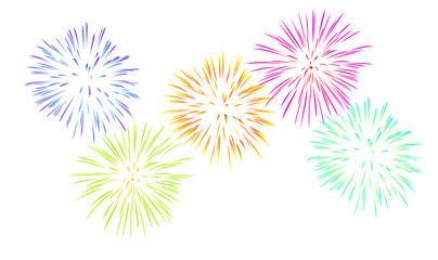 fireworks white background [V] [kw-en]