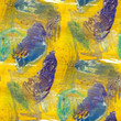 abstract watercolor yellow, blue, green seamless texture hand pa