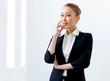 Attractive businesswoman in formal suit