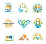 Abstract world of nature and living healthy life logo symbol