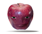 apple with a face