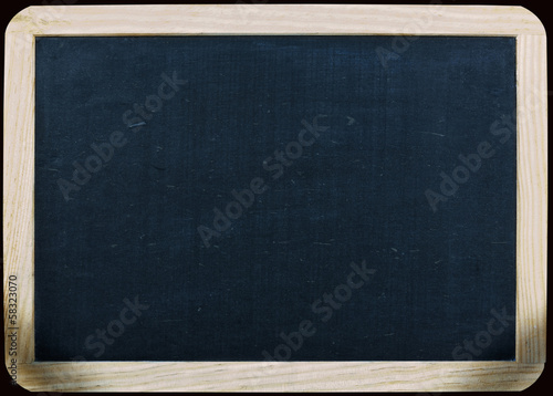 clean blackboard