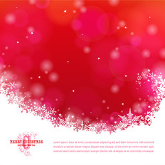 colorful christmas background with snowflakes and bokeh