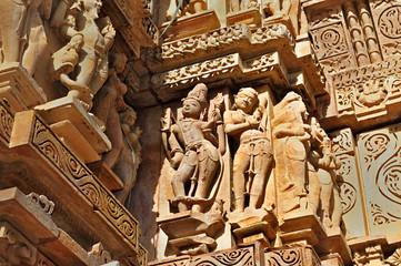 Human Sculptures at Khajuraho, India - UNESCO heritage site.