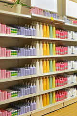 Cosmetic store shelf