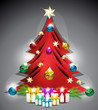 Decotrated Vector Christmas Tree