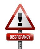 discrepancy warning road sign illustration design poster