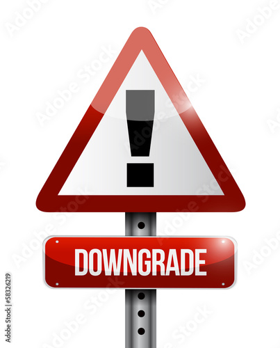 downgrade warning road sign illustration