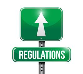 regulations road sign illustration design