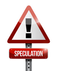 speculation warning road sign illustration