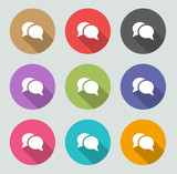 Chat icon - Flat designs