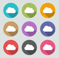 Cloud Icon - Flat designs