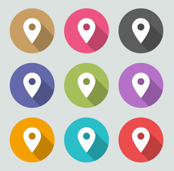 Map pointer icon - Flat designs
