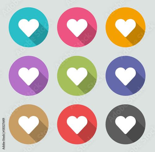 Heart icon - Flat designs