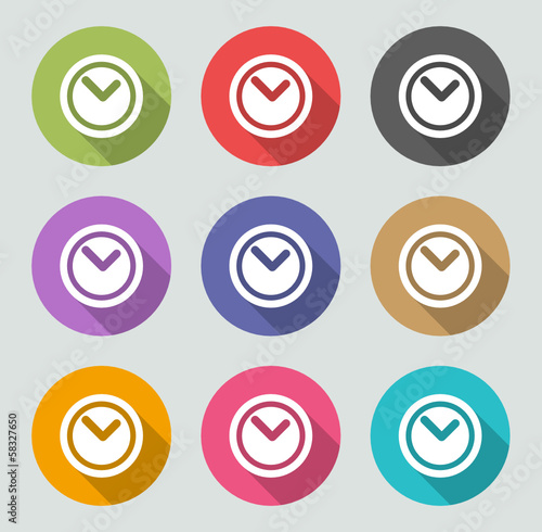 Time icon - Flat designs