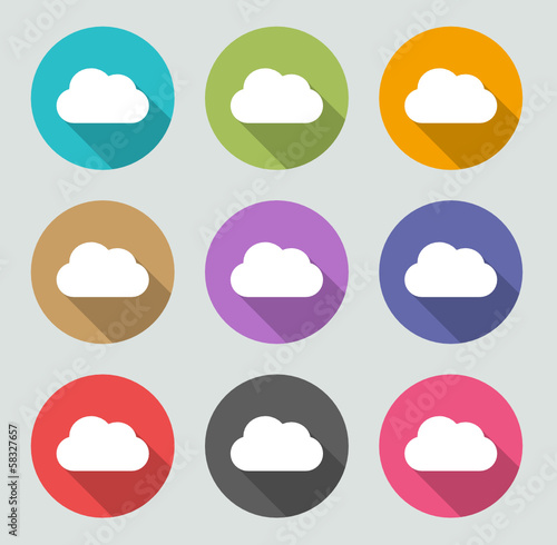Cloud Icon - Flat designs