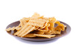 Wheat chips on plate