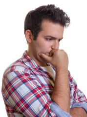Junger Mann mit Depressionen