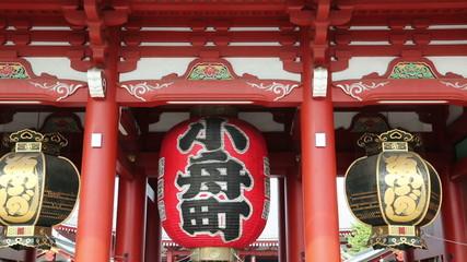 浅草寺  宝蔵門 (揺れる小舟町の提灯 チィルトダウン)