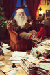 Santa Claus relaxing at home