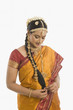 South Indian woman in traditional clothing