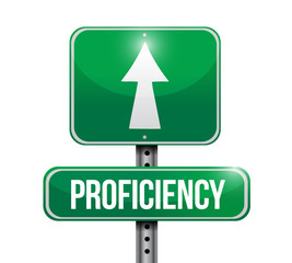 proficiency road sign illustration design