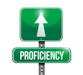proficiency road sign illustration design