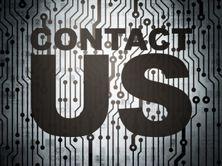 Advertising concept: circuit board with Contact Us