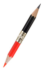 Red and black pencil