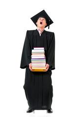 Graduating student man