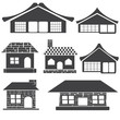 Modern House icons set vector