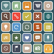 Web flat icons on blue background