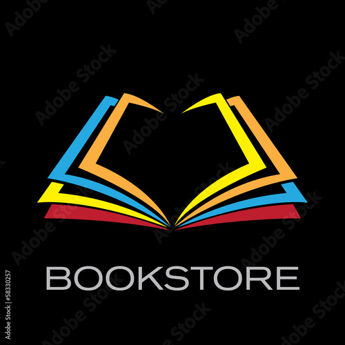Vector Logo book on black background