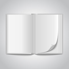 Vector open blank book