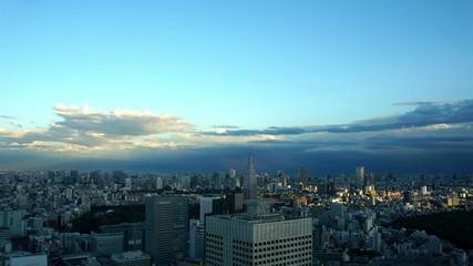 東京都心のビル群と空 インターバル撮影