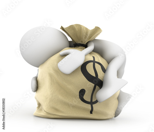 Man with money bag