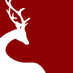 Reindeer Background Red