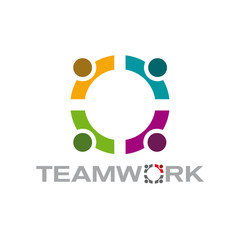 Vector logo teamwork, meeting
