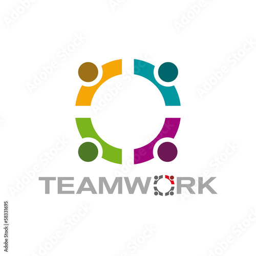 Vector logo teamwork, meeting