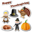 Thanksgiving sticker set