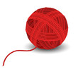 Red yarn ball