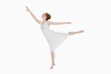 Full length of a young beautiful female dancer