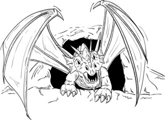 dragon going out
