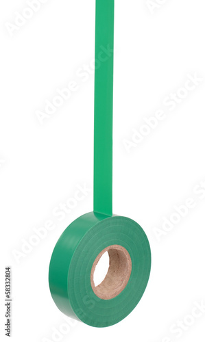 Roll of green insulating tape