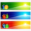 Abstract christmas banners for your design.