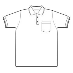 polo shirt outline vector
