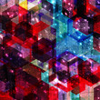 grunge style abstract geometric background
