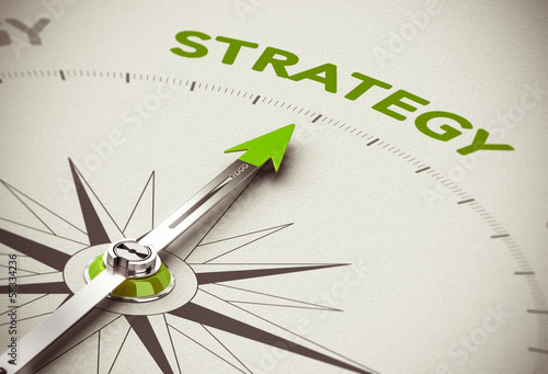 canvas print picture Green Business Strategy