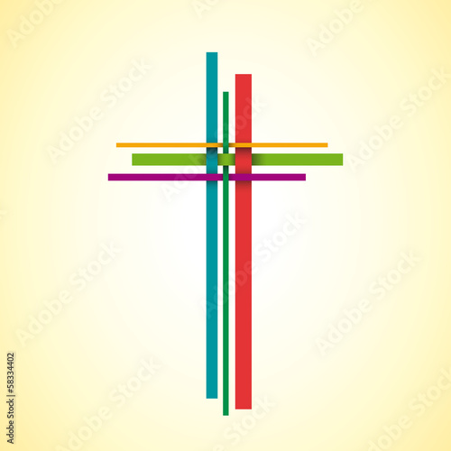 Vector logo Christ on the cross, easter