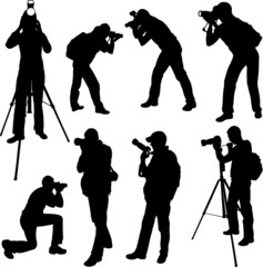 photographer silhouettes - vector 3